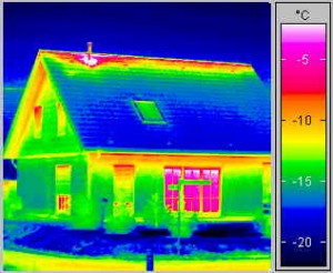 Infrared Photo of House