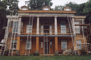 Paint removal of this Historical Restoration in Pittsburgh